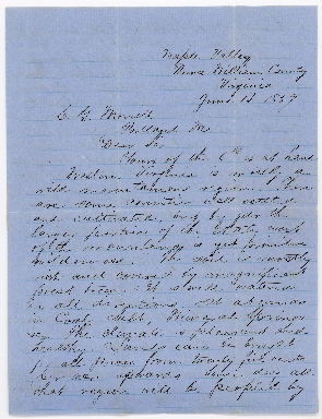 S.H. Reynolds to G.M. Morrill