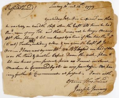 Letter from Joseph Janney