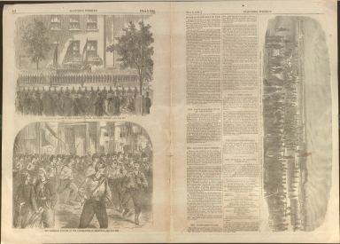 Harper's Weekly news stories and illustrations