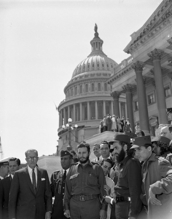 Fidel Castro and other Cuban leaders visiting Washington, DC as guests of the Press Club