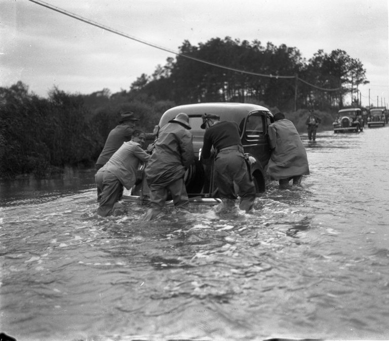 Flooded Highway between Norfolk, Virginia and Virginia Beach, Virginia