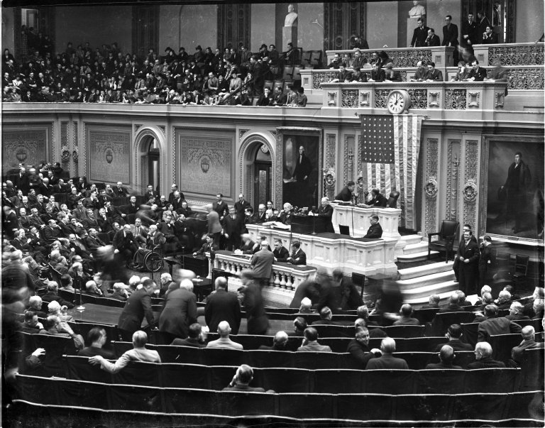 Special Session of Congress called by President Franklin D. Roosevelt