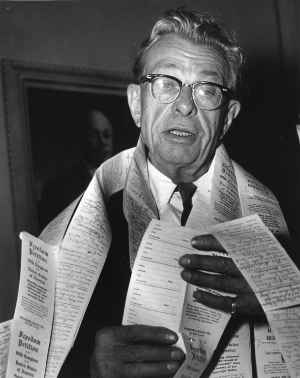"Senator Everett Dirksen (R-IL) covered in ""Freedom Petitions"""