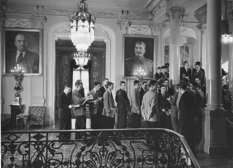 American students visit the Soviet Embassy in Washington DC