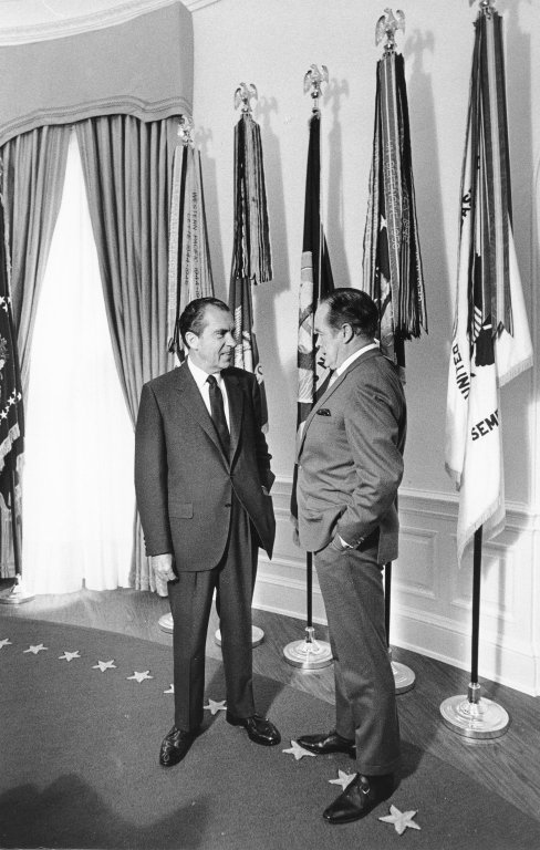 President Nixon and Bob Hope in the Oval Office