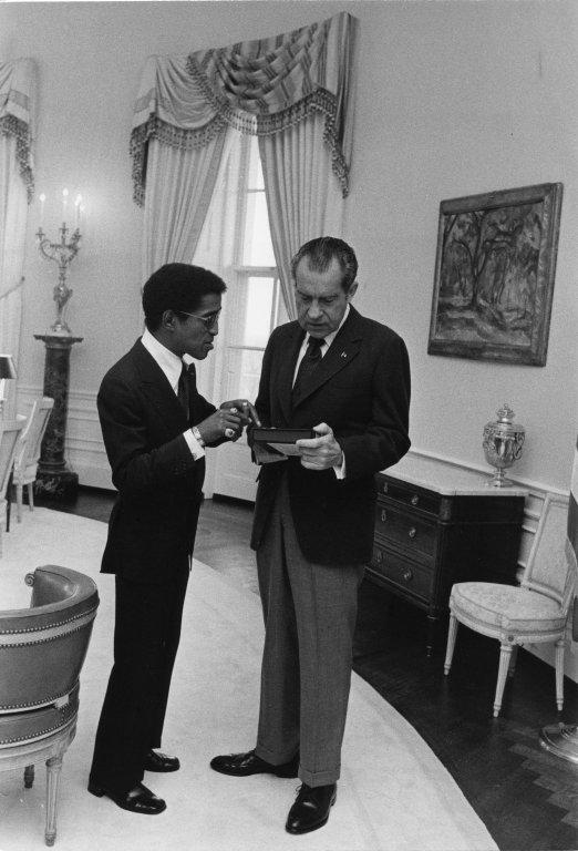 President Nixon and Sammy Davis Jr. in the Oval Office