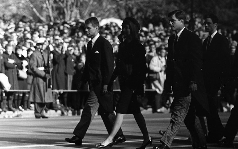 Kennedy family in funeral procession