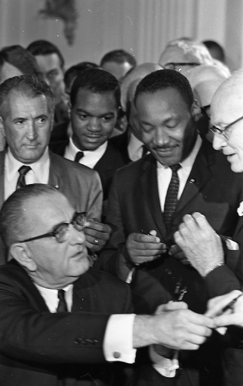 Johnson with Martin Luther King, Jr.