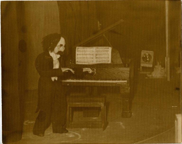Professor Solfeggio (?) pianist in Marionette Varieties in San Francisco