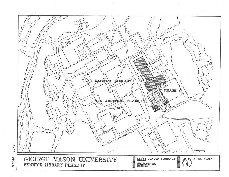 Fenwick Library Site Plan