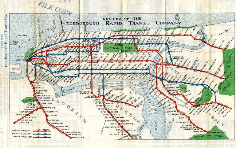 Routes of the Interborough Rapid Transit Company