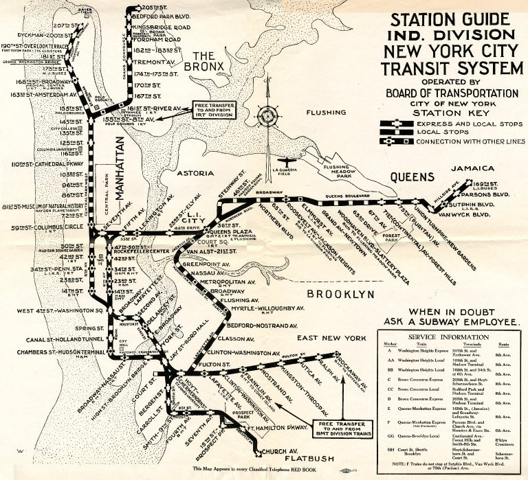 Station Guide Ind. Division New York City Transit System