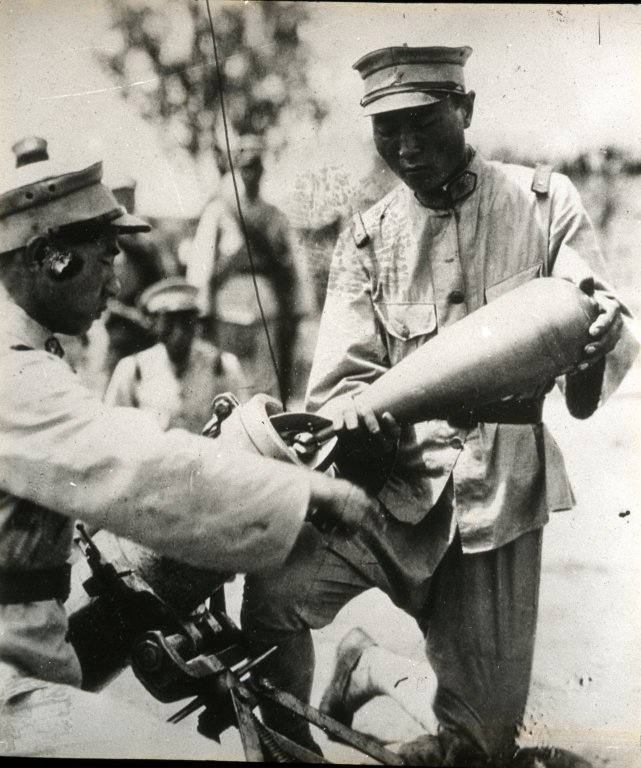 Soldier with Mortar