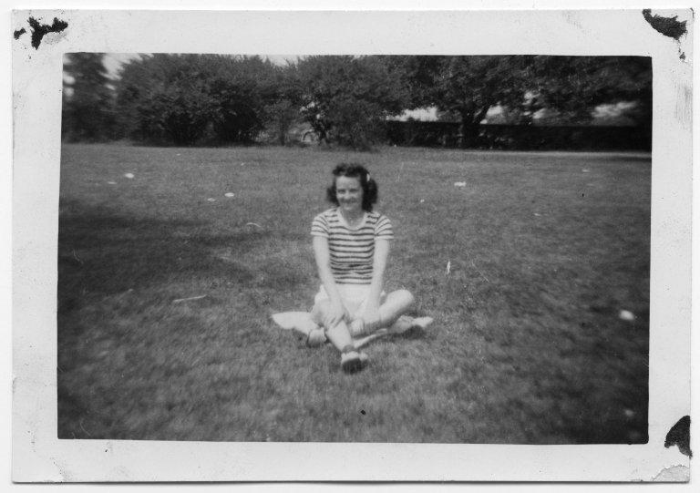 Portrait of a women in a field