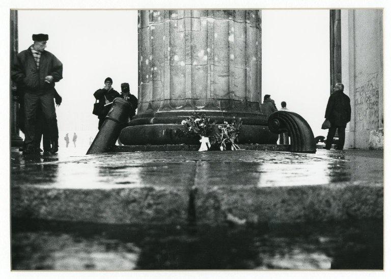 Cannon, Flowers, & Column, Brandenberg Gate, Berlin