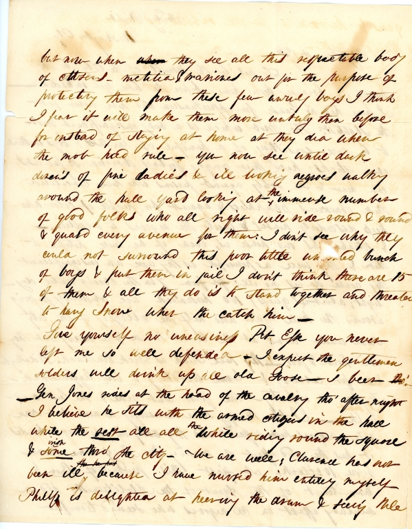 Mary Elizabeth Fendall letter 2