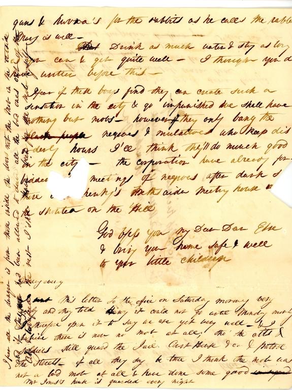 Mary Elizabeth Fendall letter 3