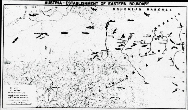 """Austria - Establishment of Eastern Boundary"" map"