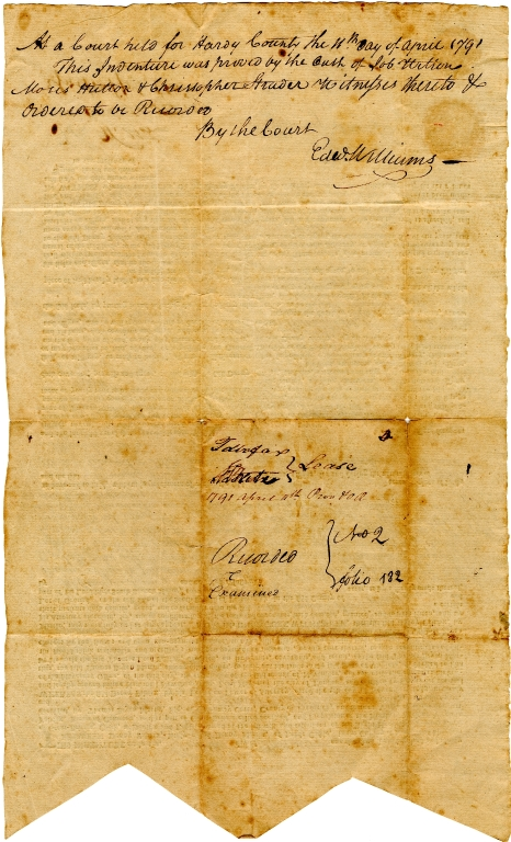 Land indenture from Denny Fairfax to Alexander White