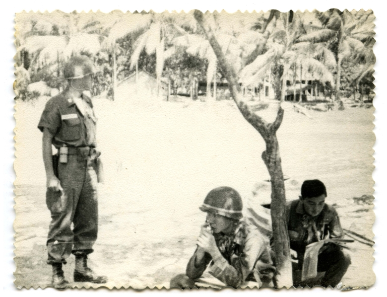 Captain Paul Yuracheck with Vietnamese soldiers