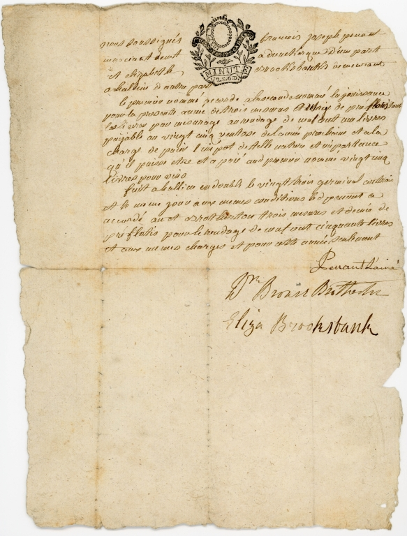 Letter of from Eliza Brooksbank