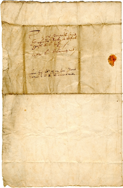 Letter from Alexander Temple to Lady Raleigh