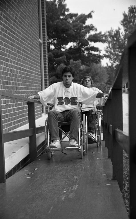 Fraternity wheel chair race 13